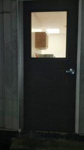 after installation of fire code compliant door